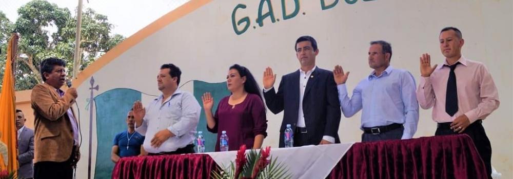 SESIÓN INAUGURAL DEL GAD BUENAVISTA 2019 - 2023.